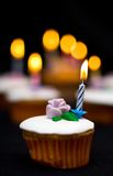 Bokeh and cupcakes Stock Photos