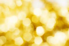 Bokeh d'or de Noël Photographie stock libre de droits