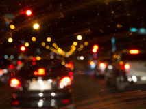 Bokeh d'embouteillage Photos stock