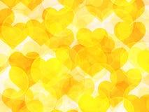 Bokeh d'orange de Saint Valentin Photographie stock libre de droits