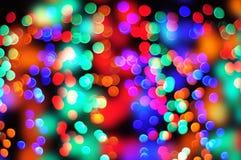 Bokeh da cor do Natal fotografia de stock