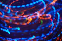 Bokeh da luz da corda do Natal Fotos de Stock Royalty Free