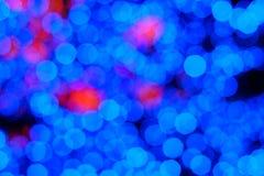 Bokeh da luz da noite da cor, fundo borrado Imagens de Stock