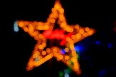Bokeh da luz da noite da cor, fundo borrado Imagem de Stock Royalty Free