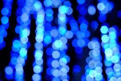 Bokeh da luz da noite da cor, fundo borrado Imagens de Stock Royalty Free