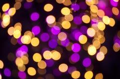 Bokeh da luz de Natal Fotografia de Stock Royalty Free