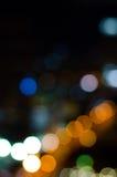 Bokeh da luz e da noite imagem de stock