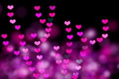 Bokeh dado fôrma coração Imagens de Stock Royalty Free