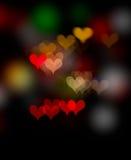 Bokeh dado fôrma coração Fotos de Stock Royalty Free