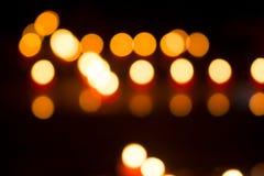 Bokeh dalla luce della candela Immagine Stock