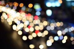 Bokeh dalle luci dell'automobile Immagine Stock Libera da Diritti