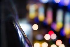 Bokeh dans la ville de nuit Photographie stock libre de droits