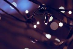 Bokeh das luzes de Natal Cor ultravioleta imagem de stock