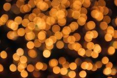 Bokeh de amarillo claro Foto de archivo libre de regalías