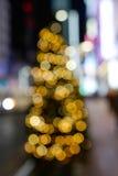 Bokeh de brilho do néon das luzes Fotos de Stock