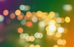 Bokeh de cirkel als achtergrond is abstract Het fonkelen schittert Kerstmis Stock Foto's