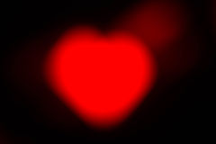 Bokeh de coeur Image libre de droits