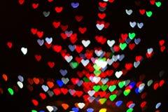 Bokeh de coeur Photos libres de droits