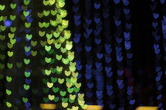 Bokeh de coeur Images libres de droits