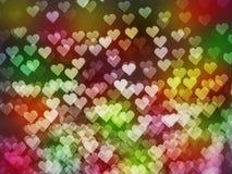 Bokeh de coeur pour le fond de jour du ` s de Valentine Photographie stock