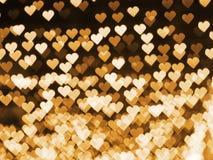 Bokeh de coeur pour le fond de jour du ` s de Valentine Photo stock