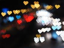 Bokeh de coeur pour le fond de jour du ` s de Valentine Images stock