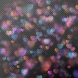 Bokeh de coeurs comme effet ENV 10 Photographie stock libre de droits