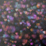 Bokeh de coeurs comme effet ENV 10 Images stock