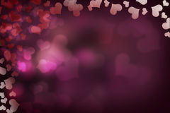 Bokeh de coeurs de Valentine Photo stock