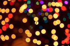 Bokeh de décoration de lumières de Joyeux Noël Photos stock