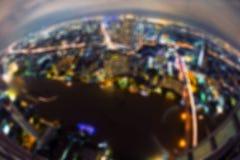 Bokeh de edificios, ciudad de Bangkok, Tailandia imagenes de archivo