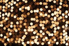 Bokeh de fête rougeoyant abstrait Image libre de droits