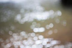 Bokeh de fond de l'eau Images libres de droits