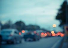 bokeh de la calle de la falta de definición con las luces coloridas Imagen de archivo libre de regalías