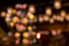 Bokeh de la decoración de las linternas Fotografía de archivo