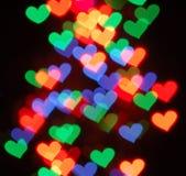 Bokeh de la dimensión de una variable del corazón Imagen de archivo libre de regalías