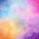Bokeh de la falta de definición del arco iris Foto de archivo libre de regalías