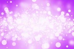 Bokeh de la falta de definición del extracto de la púrpura fotos de archivo libres de regalías