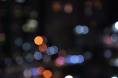 Bokeh de la falta de definición de la luz de la ciudad Foto de archivo libre de regalías