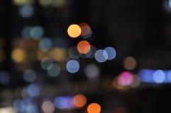 Bokeh de la falta de definición de la luz de la ciudad Foto de archivo