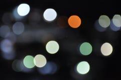 Bokeh de la falta de definición de la luz de la ciudad Fotografía de archivo