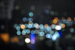 Bokeh de la falta de definición de la luz de la ciudad Fotografía de archivo libre de regalías