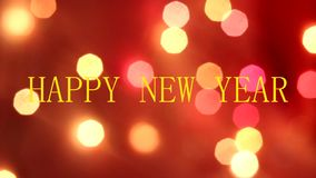 Bokeh de la guirlande de nouvelle année guirlande de clignotant ` S de nouvelle année et Noël Humeur de fête Boke la guirlande banque de vidéos