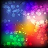 Colorfull abstracto del bokeh Stock de ilustración