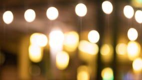 Bokeh de la luz anaranjada fotografía de archivo