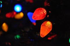 Bokeh de la luz de la Navidad Fotografía de archivo