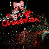 Bokeh de la luz de la Navidad Fotos de archivo