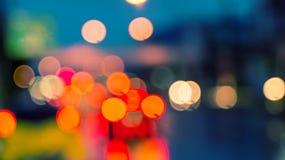 Bokeh de la luz de la noche de Cty Imagen de archivo