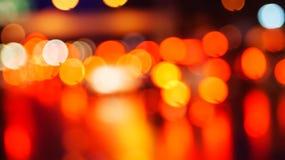 Bokeh de la luz de la noche de Cty Fotos de archivo libres de regalías