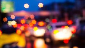 Bokeh de la luz de la noche de Cty Fotografía de archivo libre de regalías